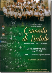 locandina concerto di Natale 2013